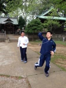 神社野球②