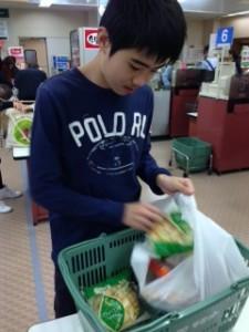 買い物7袋詰め