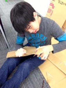 凧型紙カット