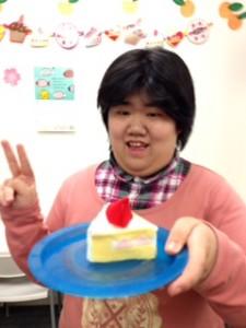 3月お誕生日カットケーキ